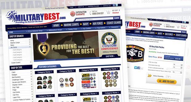 MilitaryBest.com Custom Website Design