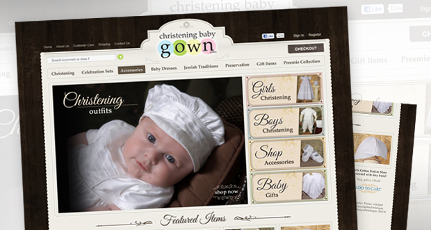 ChristeningBabyGown Custom Website Design