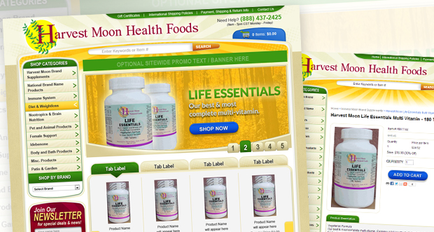 harvestmoonhealthfoods.com Custom Website Design